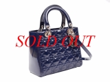 MS8056 Túi Christian Lady Dior navy bóng